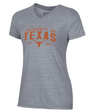 Texas Longhorn Ladies V-Neck Est. 1883 Tee (C60169485)
