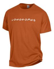 "Texas Longhorns LONGHORNS in ""Friends"" Script Tee (GDH100HTX1)"