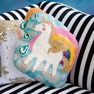 Beaded Unicorn Pillow (SI0466)