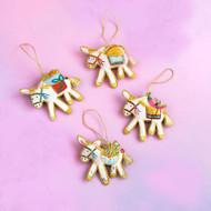 Beaded Burro Ornament (Style Selected at Random) (SI0556)