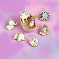 Glass, Velvet, Beaded Lala Land Ornaments (7 Styles) (SI0580)