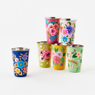 Festive Hand Painted Floral Cup (6 Colors) (IN0273)