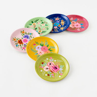 Festive Floral Plate (6 Colors)(IN0276)