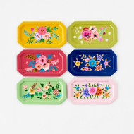 Festive Hand Painted Floral Tray (6 Colors)(IN0293)