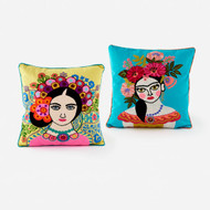 Frida Pillow (2 Colors) (IN0552)