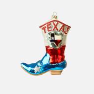 Glass Texas Boot Ornament (CG0030)
