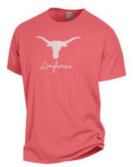 Texas Longhorn Ladies Comfort Wash Logo Script Tee (GDH100H6G-459)