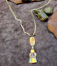 Treska Forged Long Pendant on Flat Snake Chain (FOR6367)