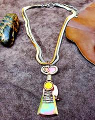 Treska Forged Short Pendant Necklace (FOR6427)