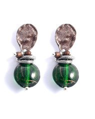 Treska Strata Round Bead Drop Earrings (STR1091)