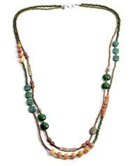 Treska Strata Long Strand Beaded Necklace (STR1297)