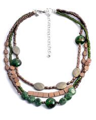 Treska Strata Short 3 Row Beaded Necklace (STR1327)