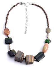 Treska Strata Short Chunky Beaded Necklace (STR1367)