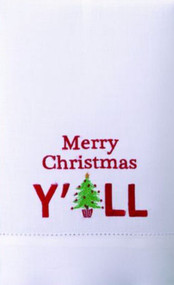 Merry Christmas Y'all Tree Guest Towel (04TA22883WC)