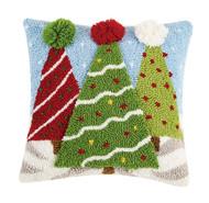 3D Christmas Trees Hook Pillow (31TG152C14SQ)