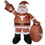 Texas Longhorn 7' Self-Inflating Illuminating Santa (620327)