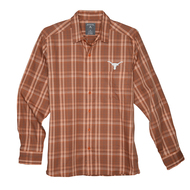 Texas Longhorn Antigua Strive Ombre Plaid Shirt (104530-39E)