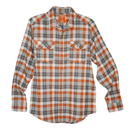 Texas Longhorn Antigua Ease Flannel Plaid Shirt (104527-95C)