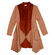 Vine Street Melange Wrap Jacket (475-RUST)