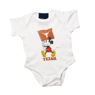 Texas Longhorn Mickey Creep Onesie (DIS8403WHITE)