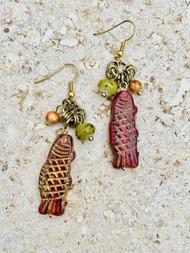 Treska Tajiine Small Fish Drop Earrings (TAJ24041)(FISH)