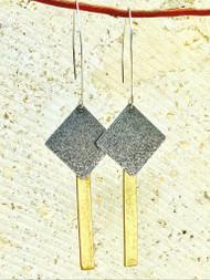 Treska Gallery Textured Square & Rectangle Earrings (TG91541)