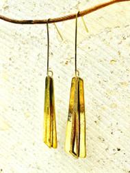 Treska Gallery Double Gold Dangle Earrings (TG91531) (GLD)