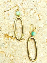 Treska Gallery Ceramic & Oval Link Earrings (TG91211)