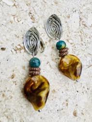 Treska Acadia Simple Drop Clip Earrings (ACA36012-C)