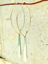 Treska Gallery Double Trapizoid Earrings (TG91511)