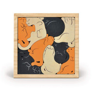 Kitty Corner Cat Wooden Puzzle (FRD 5274207)