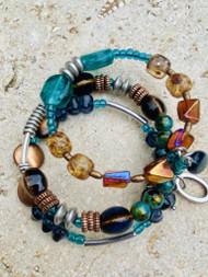 Treska Acadia 3 Row Beaded Cuff Bracelet (ACA36064)