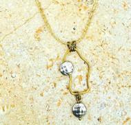 Treska Gallery Hammered Cast Bead & Freeform Necklace (TG91307)