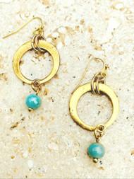 Treska Gallery Ceramic & Circle Link Earrings (TG91221)