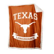 Texas Longhorn Print Sherpa Blanket (218-24P)
