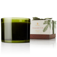 Thymes Frasier Fir 3 Wick Green Glass Candle (520547000)