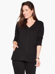 Nic & Zoe Supersoft Seam Detail Top (F211024)