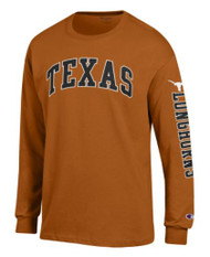 Texas Longhorn Outlined Arch Texas Long Sleeve Tee (CT1730475-061)