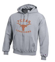 Texas Longhorn Logo Full Zip Hoodie (CS2072930-671) GREY