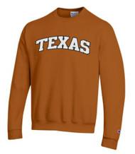 Texas Longhorn Fleece Crew Neck Applique Arch TEXAS Sweat Top (CS1220475) BO