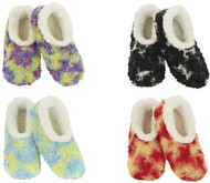 Snoozies Tie Dye Fuzzy Slippers (4 Colors) (WTIEDYE)