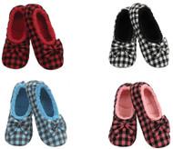 Snoozies Mini Buffalo Plaid Ballerina Slippers (4 Colors) (CHECKMEOUTBALLERINA)