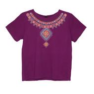 Sabaku Jeweled Collar Short Sleeve Tee (404PLMSSBT)