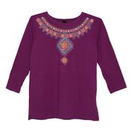 Sabaku Jeweled Collar 3/4 Sleeve (404PLM3/4S)
