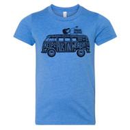 Keep Austin Weird Hippie Van Youth Tee (5998YTCB) COL BLUE