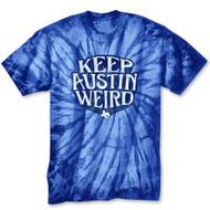 Keep Austin Weird Tie Dye Tee (5054YTTDRY) ROYAL