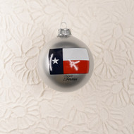 Texas Flag Round Glass Ornament (270104)