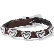Brighton Roped Heart Braid Bandit Bracelet (7475)