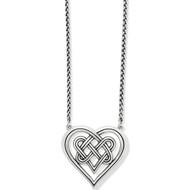 Brighton Interlok Crossing Hearts Necklace (JM4870)