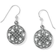 Brighton Interlok Medallion French Wire Earrings (JA7330)